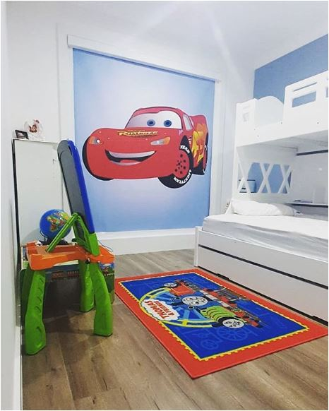 Customer Printed Lighting McQueen from Cars Roller Blind