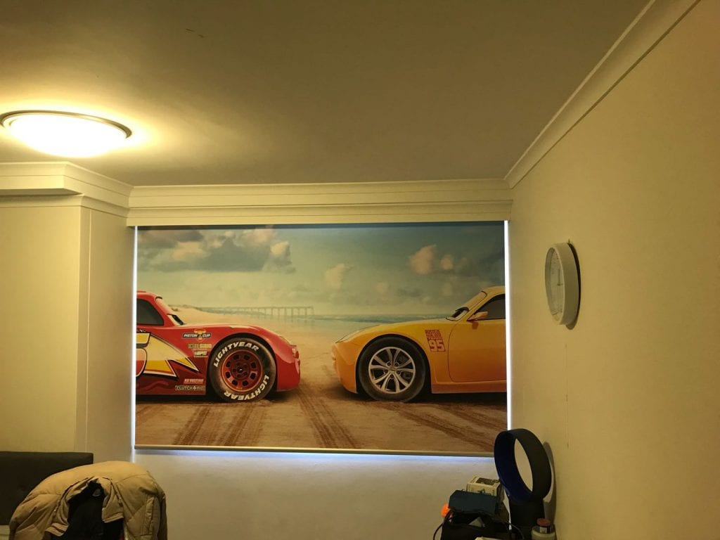 Cars Movie Custom Printed Blind