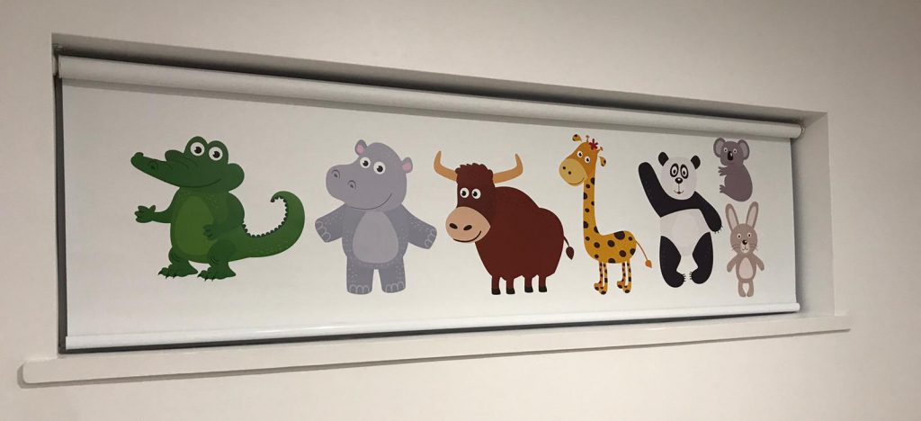 Zoo Animals Custom Printed Kids Room Roller Blind