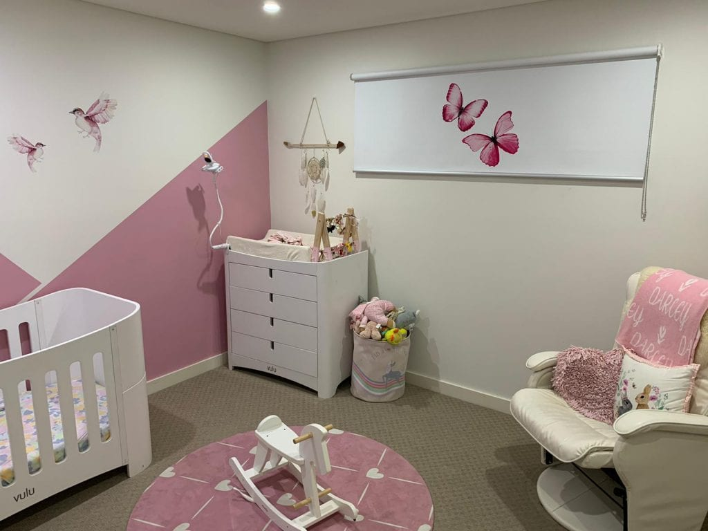 Butterfly Printed Roller Blinds – Baby Room